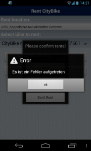 "Englisch: ""An Error has occured"""